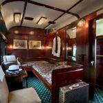 Interior of Vintage and Luxury Train